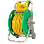 Hozelock 25m hose on reel with connection
